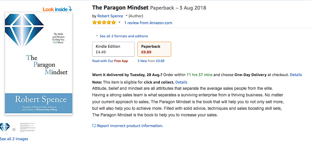 The Paragon Mindset - Available NOW!